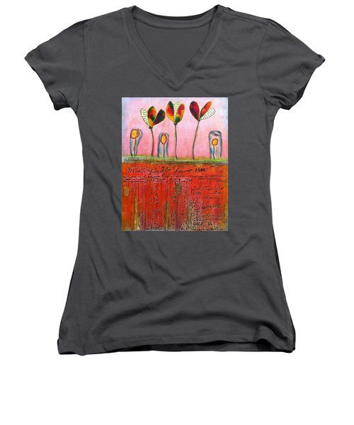 Buried Ledger Women's V-Neck