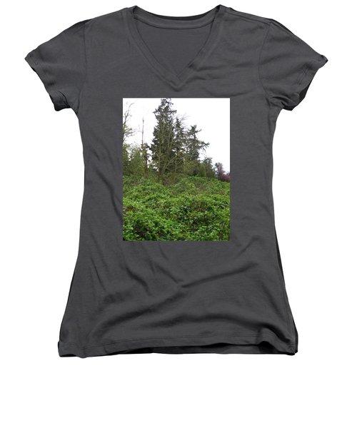 Bus Stop Greenbelt Women's V-Neck T-Shirt