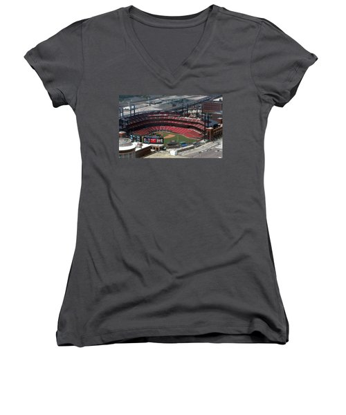 Busch Memorial Stadium Women's V-Neck (Athletic Fit)