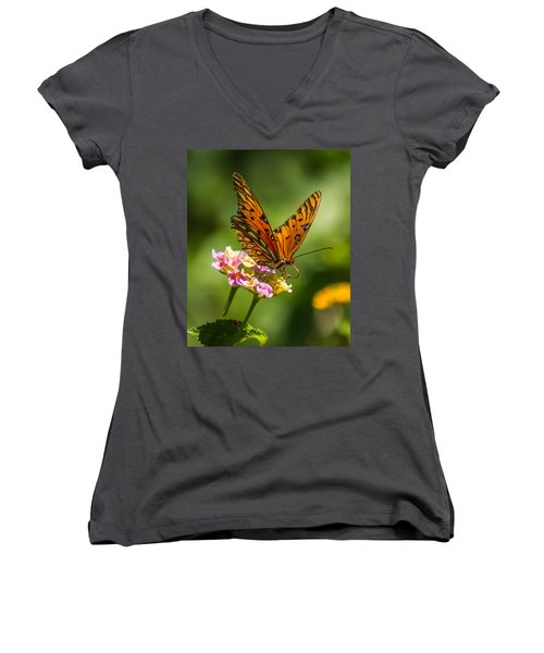 Busy Butterfly Women's V-Neck T-Shirt