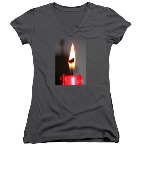 Butterfly Flame Women's V-Neck