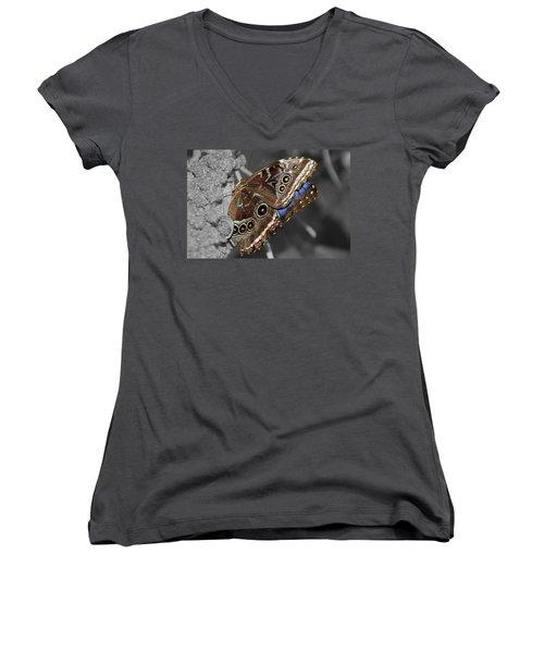 Butterfly Spot Color 1 Women's V-Neck