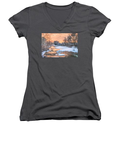 By The Old Mill Women's V-Neck