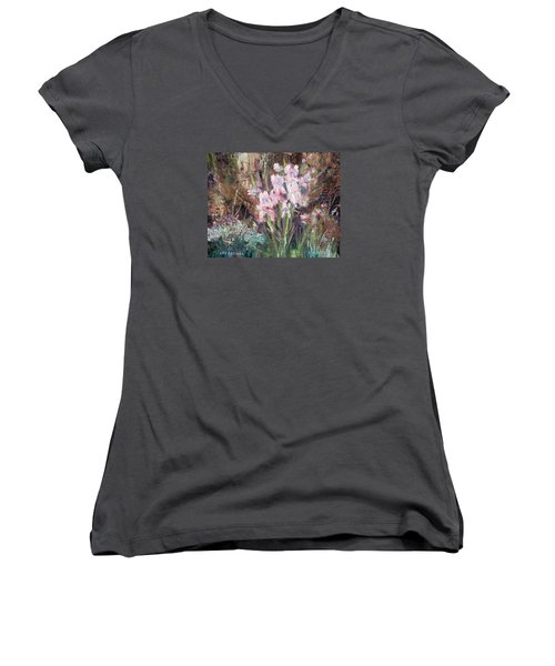 By The Side Of The Road Women's V-Neck T-Shirt (Junior Cut) by Lee Beuther