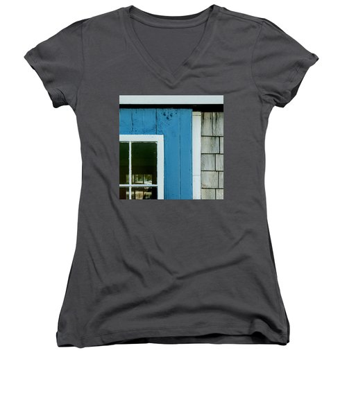Old Door In Blue Women's V-Neck