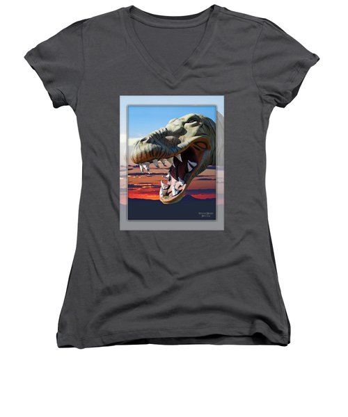 Cabazon Dinosaur Women's V-Neck T-Shirt