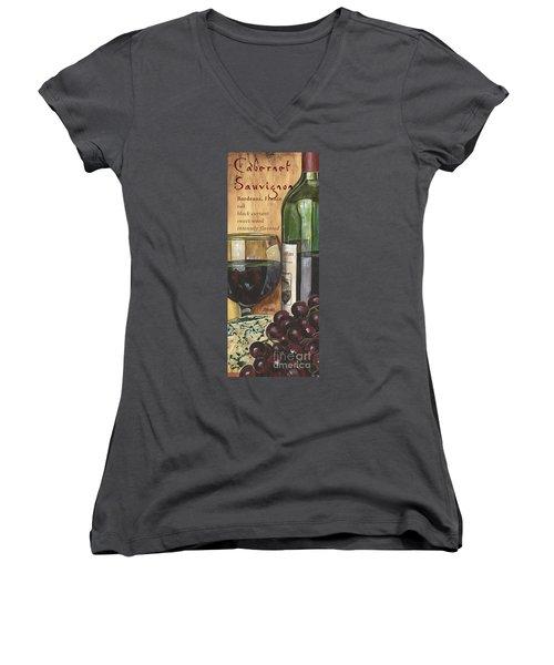 Cabernet Sauvignon Women's V-Neck T-Shirt