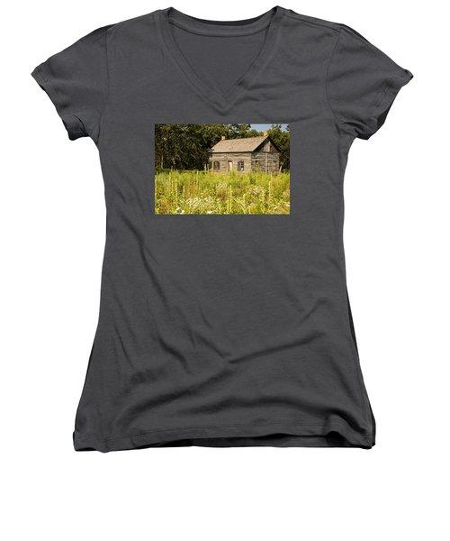 Cabin In The Prairie Women's V-Neck
