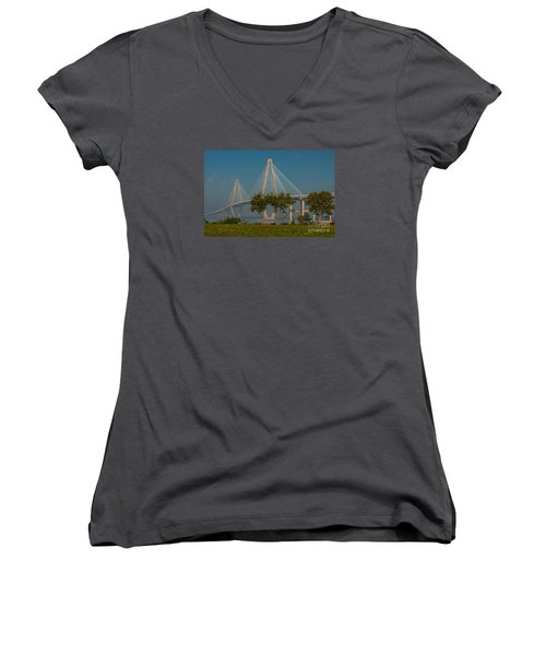 Cable Stayed Bridge Women's V-Neck