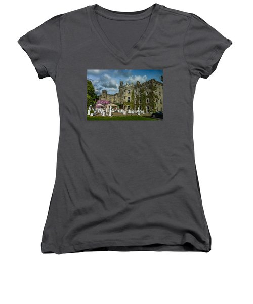 Cabra Castle - Ireland Women's V-Neck (Athletic Fit)