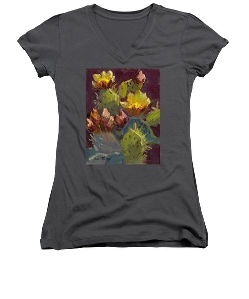Cactus In Bloom 1 Women's V-Neck
