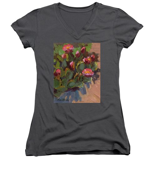 Cactus In Bloom 2 Women's V-Neck