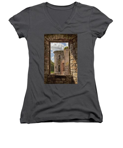 Caerlaverock Castle Women's V-Neck T-Shirt