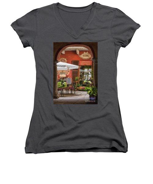 Caffeteria Orta San Guilio Women's V-Neck T-Shirt