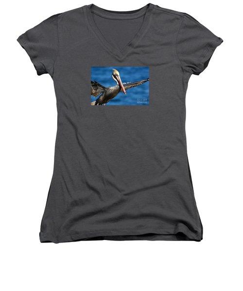 Freedom In Blue Women's V-Neck T-Shirt