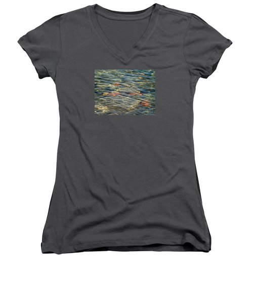 Calming Waters Women's V-Neck T-Shirt (Junior Cut) by Susan  Dimitrakopoulos