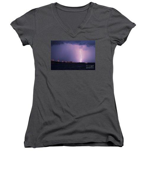 Caloosahatchee River Women's V-Neck T-Shirt (Junior Cut)
