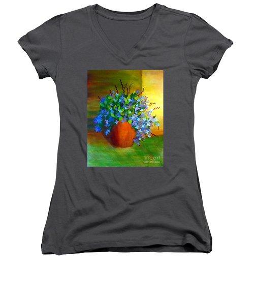 Campanula In Terra Cotta Women's V-Neck T-Shirt