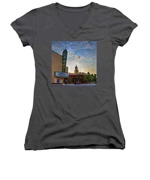 Campus At Sunrise Women's V-Neck T-Shirt
