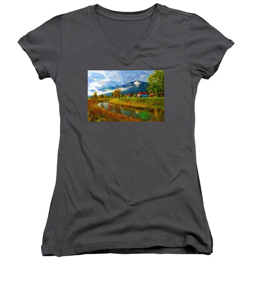 Canal 1 Women's V-Neck (Athletic Fit)