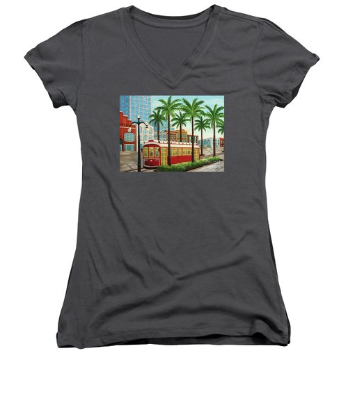 Canal Street Car Line I I Women's V-Neck (Athletic Fit)