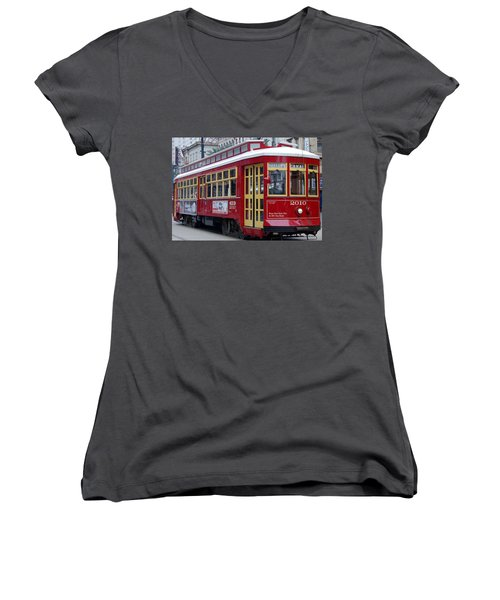 Canal Streetcar Nola Women's V-Neck (Athletic Fit)