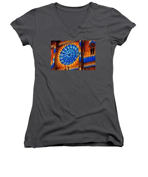 Candle Lights On Walls Women's V-Neck T-Shirt