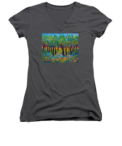 Candy Wood Women's V-Neck T-Shirt