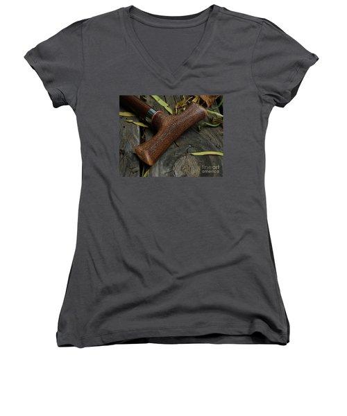 Cane And I Women's V-Neck T-Shirt (Junior Cut) by Peter Piatt