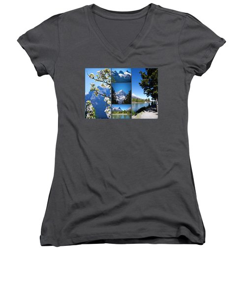Canmore Alberta Women's V-Neck (Athletic Fit)