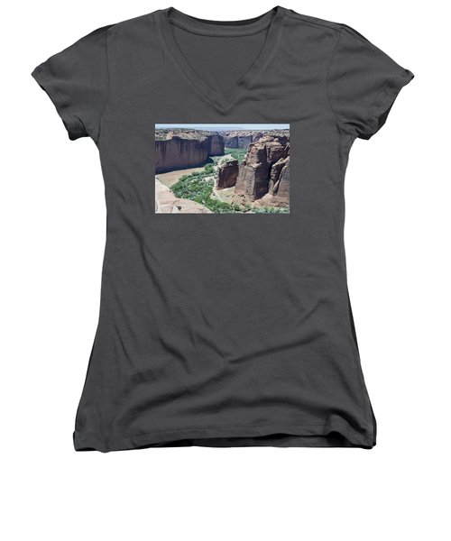 Canyon De Chelly View Women's V-Neck
