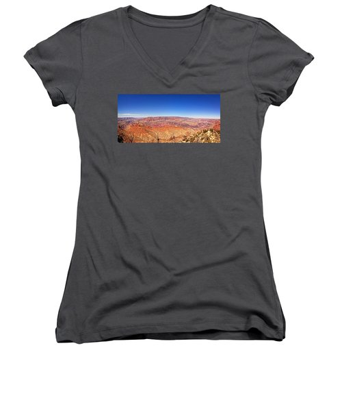 Canyon View Women's V-Neck T-Shirt (Junior Cut) by Dave Files