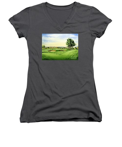 Carnoustie Golf Course 13th Green Women's V-Neck (Athletic Fit)