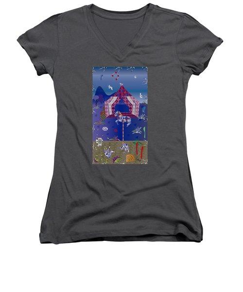 Carousel  Women's V-Neck T-Shirt