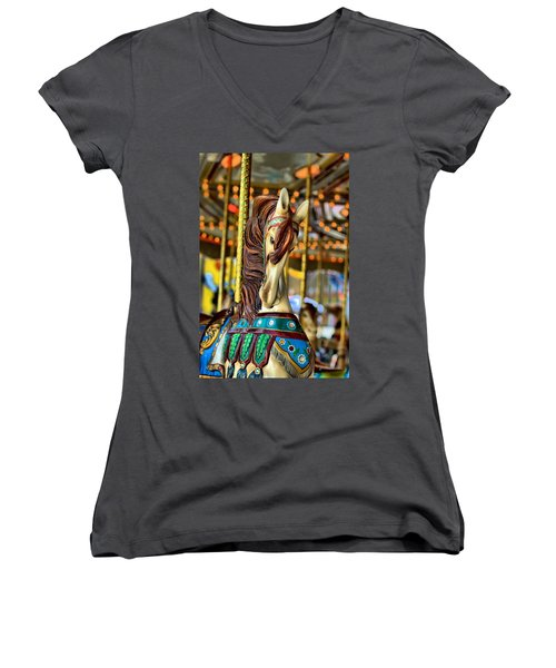Carousel Women's V-Neck T-Shirt