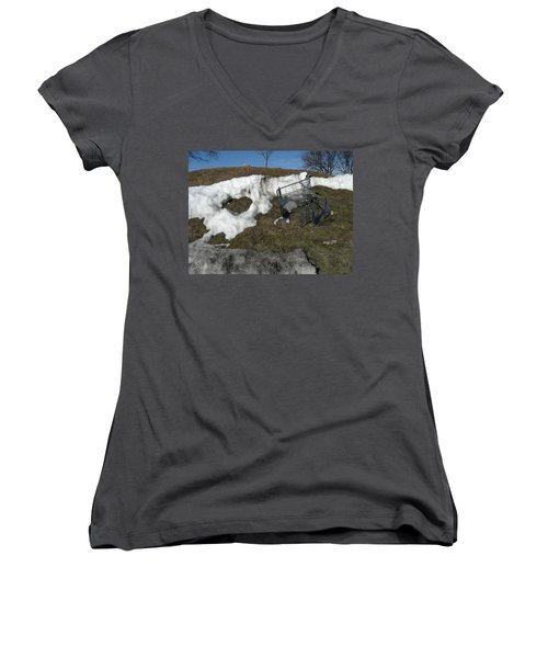 Cart Art No. 19 Women's V-Neck (Athletic Fit)