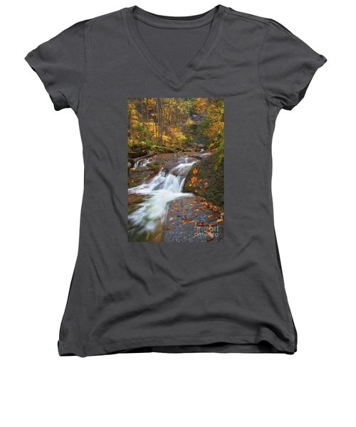 Cascade In The Glen Women's V-Neck (Athletic Fit)