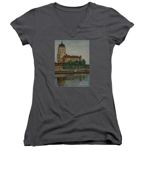 Castle Of Vyborg Women's V-Neck