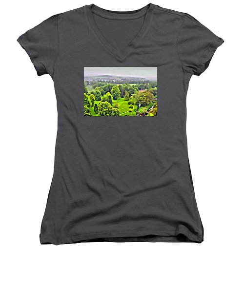 View From The Castle Women's V-Neck