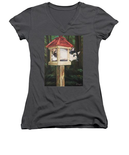 Cat House Women's V-Neck (Athletic Fit)