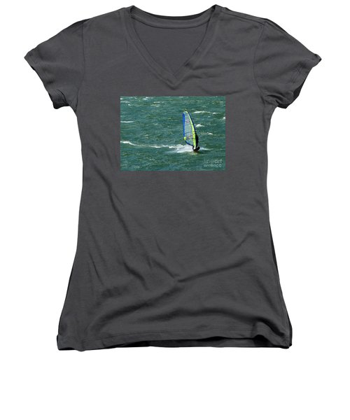 Catching Wind And Surf Women's V-Neck T-Shirt