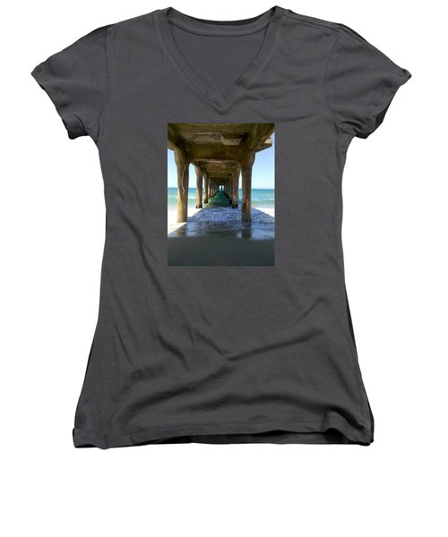 Catharsis  Women's V-Neck T-Shirt (Junior Cut) by Joe Schofield