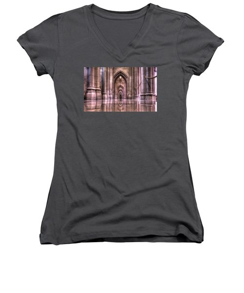 Cathedral Reflections Women's V-Neck