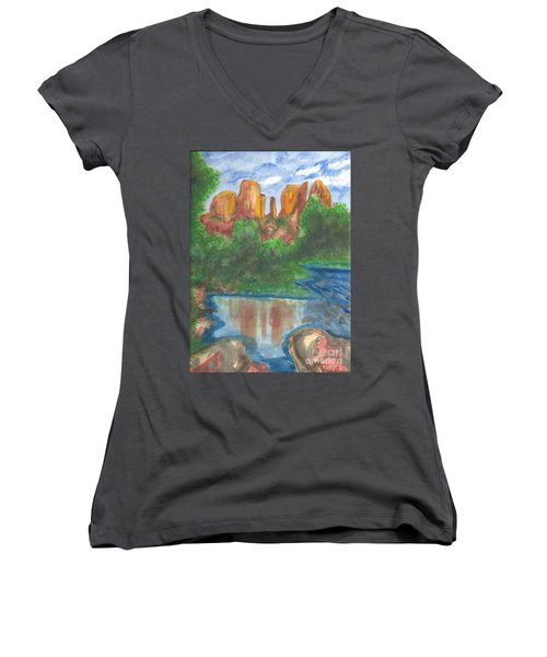 Cathedral Rock Women's V-Neck