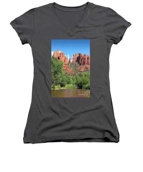 Cathedral Rock Sedona Women's V-Neck