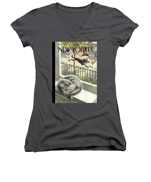 Catnap Women's V-Neck