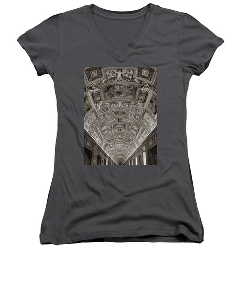 Ceiling Of Hall Of Maps Women's V-Neck (Athletic Fit)