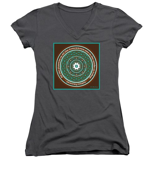 Celtic Lotus Mandala Women's V-Neck (Athletic Fit)