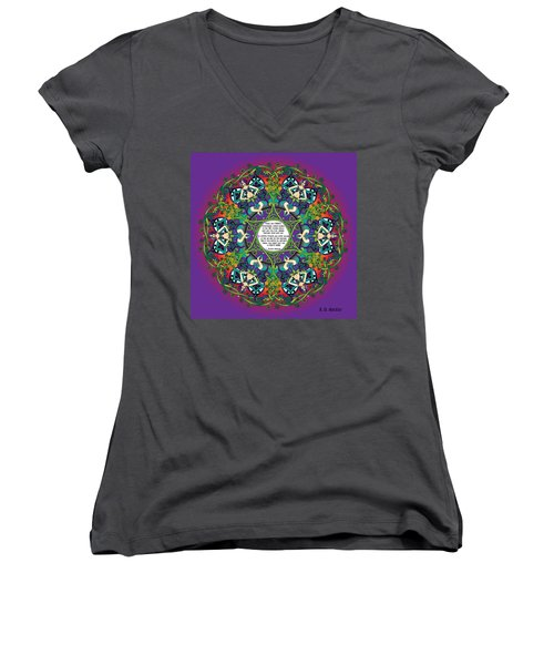 Celtic Spring Fairy Mandala Women's V-Neck (Athletic Fit)