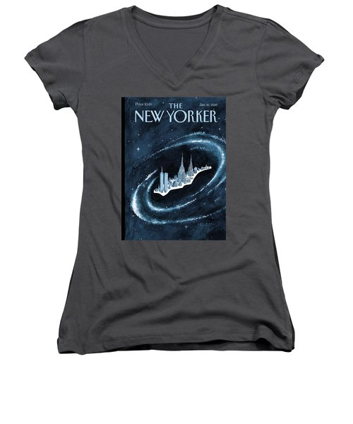 Center Of The Universe Women's V-Neck (Athletic Fit)